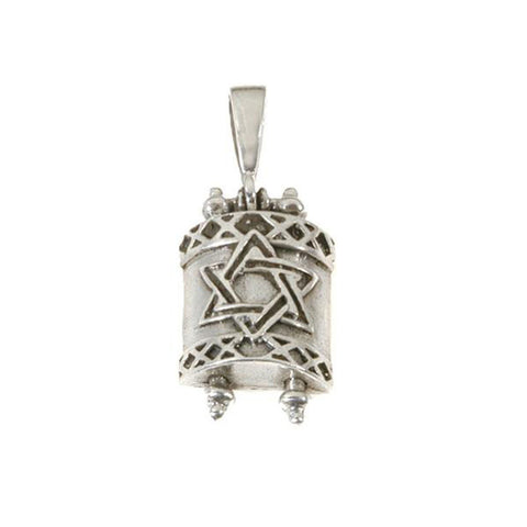 Torah Scroll with Star of David Cover Necklace