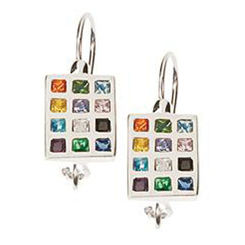 Breastplate of the 12 Tribes Earrings - Holy Land Gifts