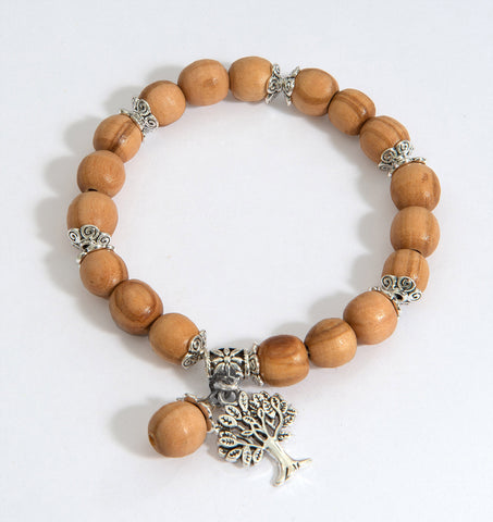 Tree of Life Olive Wood Bracelet