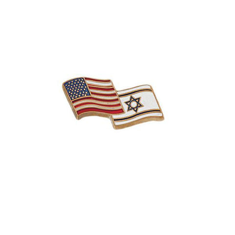 American & Israeli Country Lapel Pin - Holy Land Gifts