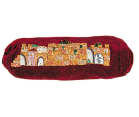 Embroidered Jerusalem Ram Shofar Bag - Holy Land Gifts