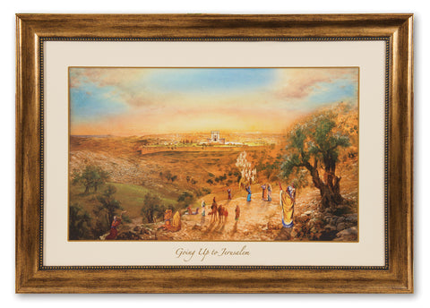 """Going Up to Jerusalem"" Framed Canvas"