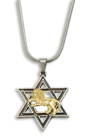 Star of David & Lion Pendant