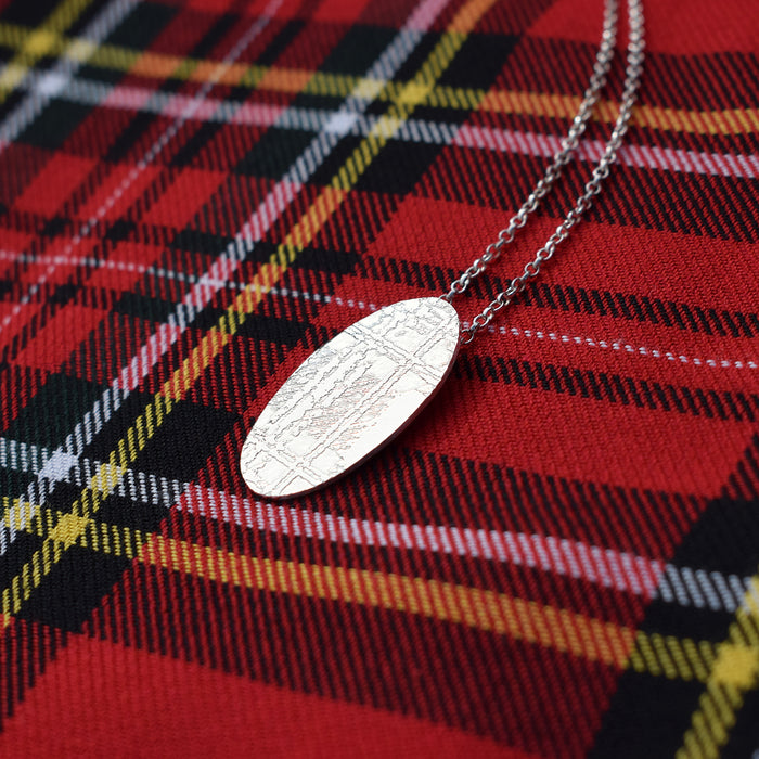 Scottish tartan necklace, Royal Stewart tartan necklace, Silver Scottish necklace, Tartan jewellery, tartan jewelry