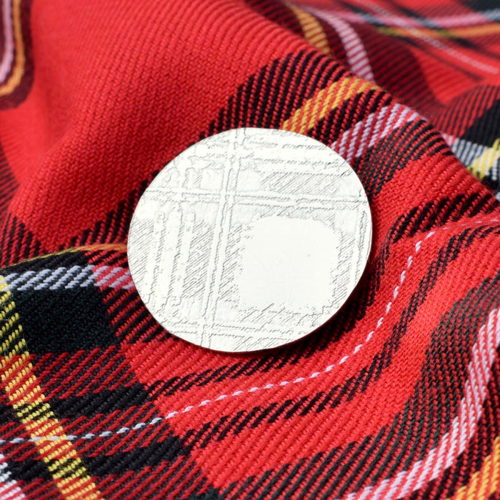 Royal Stewart Tartan Brooch, Royal Stewart silver jewellery, Scottish gift, Scottish present