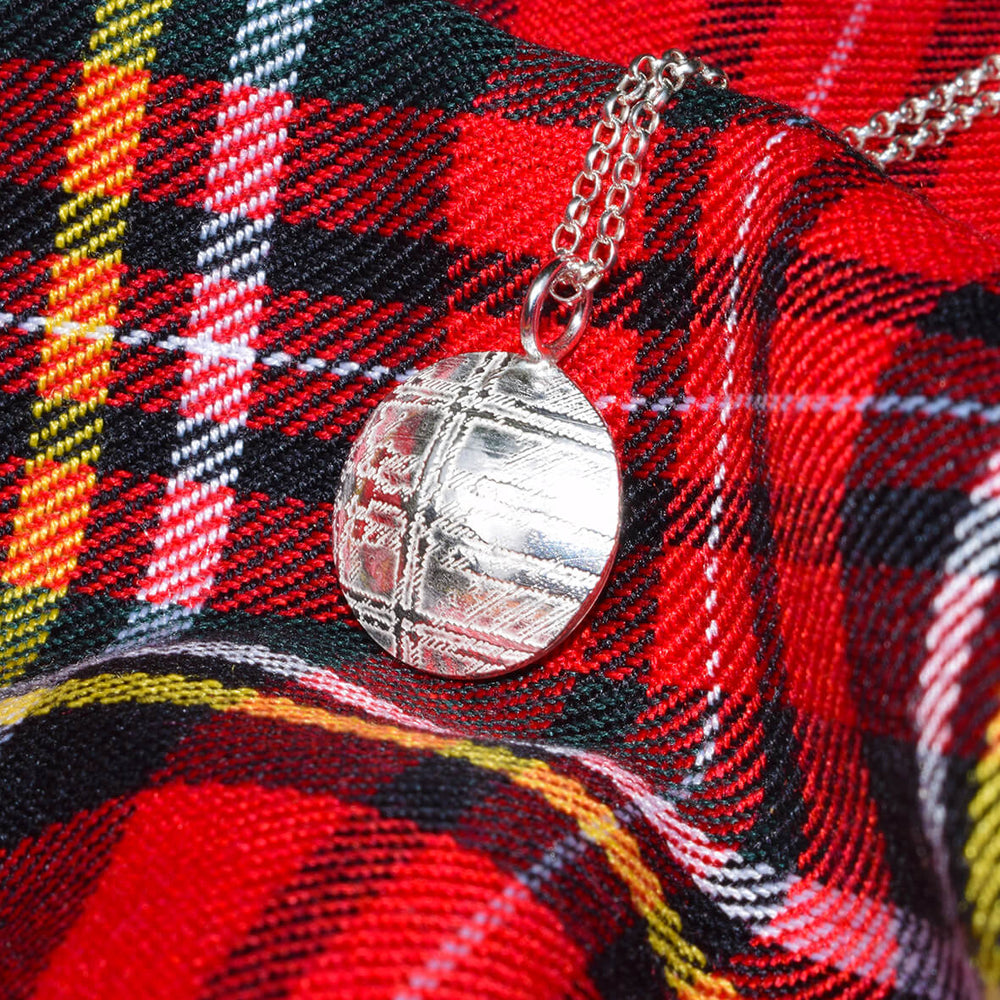 Royal Stewart necklace, Scottish necklace, Royal Stewart tartan pendant