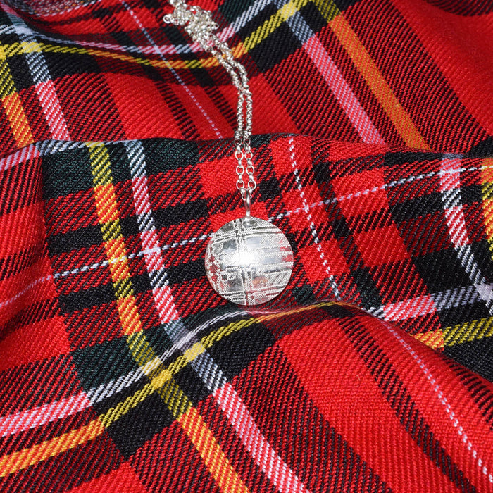 Tartan necklace, Silver tartan jewellery, Royal stewart necklace, Scottish necklace, Royal Stewart tartan
