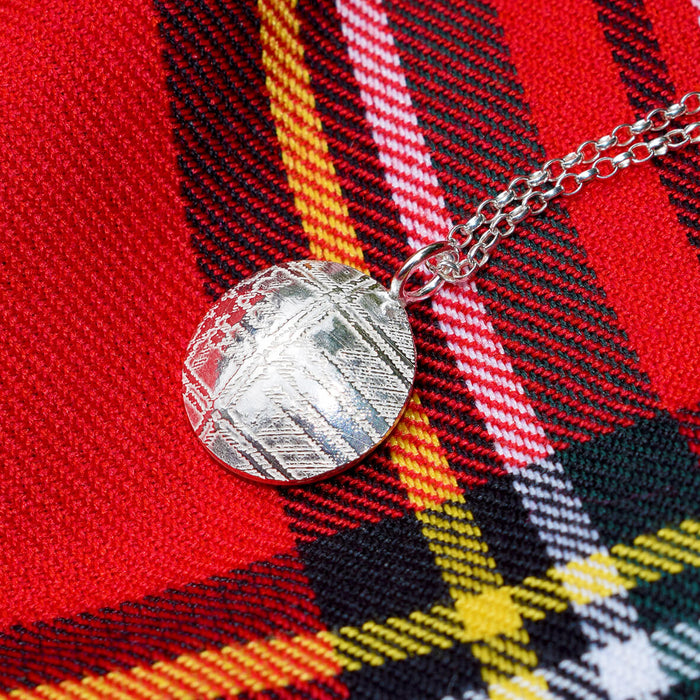Tartan necklace, Tartan jewellery, Tartan jewelry, Kilt necklace, Royal Stewart tartan