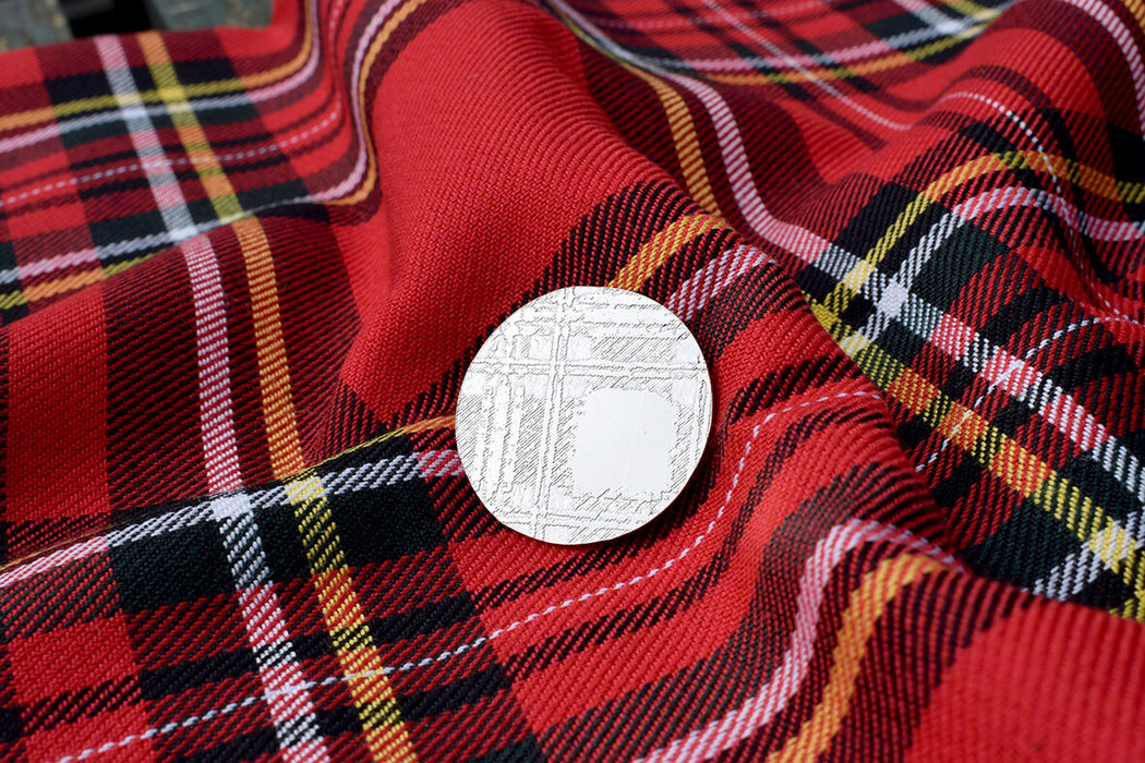 Scottish Tartan Jewellery, Royal Stewart pin, Scottish Jewellery, Tartan Jewellery