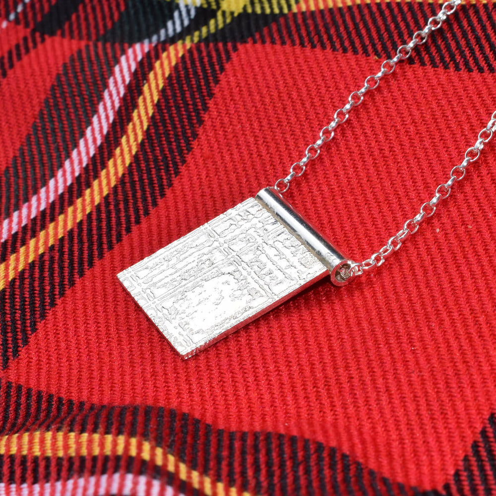 Scottish pendant, Scottish Necklace, Royal Stewart tartan necklace, Royal Stewart jewellery, Scottish jewellery