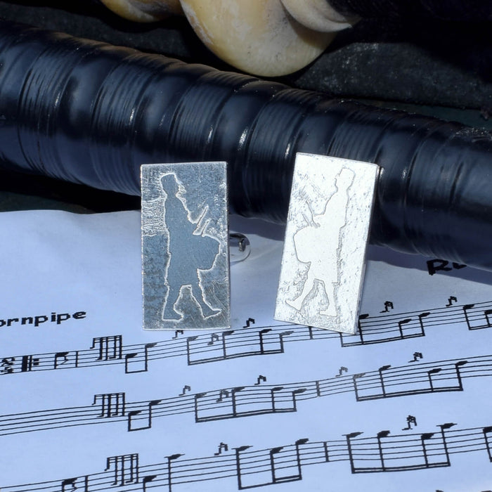 Silver side drummer cufflinks, Pipe band drummer cufflinks, pipe band cufflinks, Scottish snare drummer cufflinks