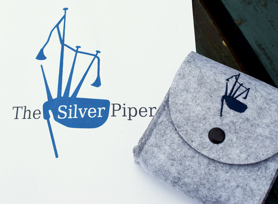 The Silver Piper jewellery, Scottish pipe band jewellery gifts
