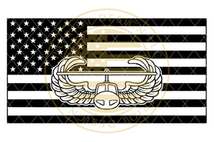 Air Assault Centered American Flag