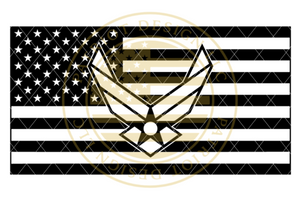 Air Force Centered American Flag