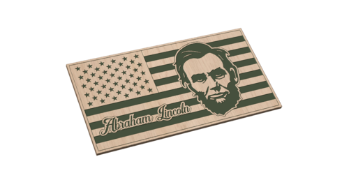 American Flag with Abraham Lincoln
