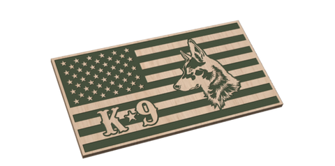 American Flag with K9 Dog