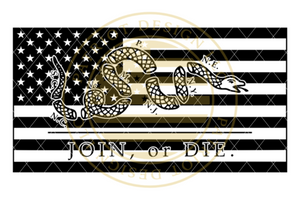 Join or Die American Flag