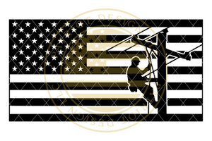 Stealth Series Lineworker American Flag
