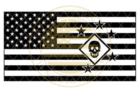 Marine Raiders American Flag