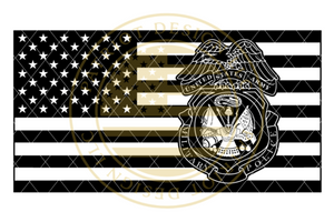 Military Police Badge American Flag