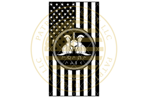 Molon Labe Spartans American Vertical Flag