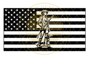 National Guard Soldier American Flag