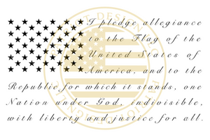 Pledge of Allegiance Flag