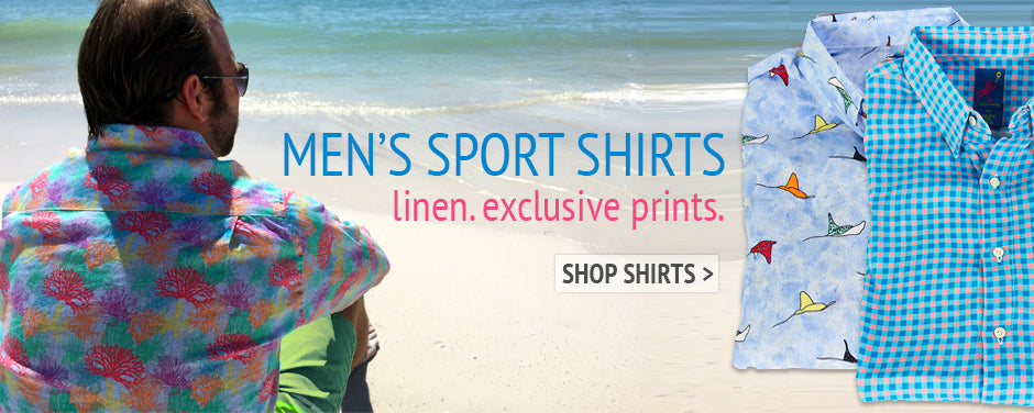 Shop Mens Linen Sport Shirts