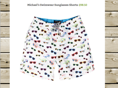 Michaels Sunglasses trunks - In Eastern Time blog post