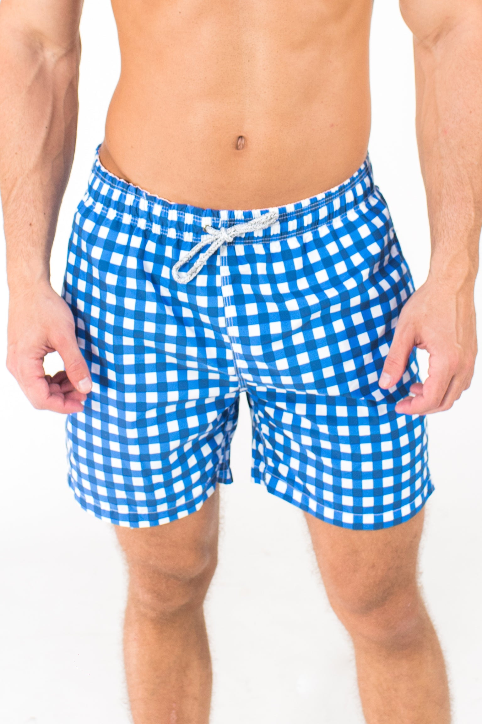 030d631df1 Men's Classic Gingham Swim Trunk - Navy/White