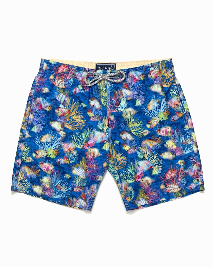 7a3deadd6b Men's H2O Color Fish Swim Trunks- Royal