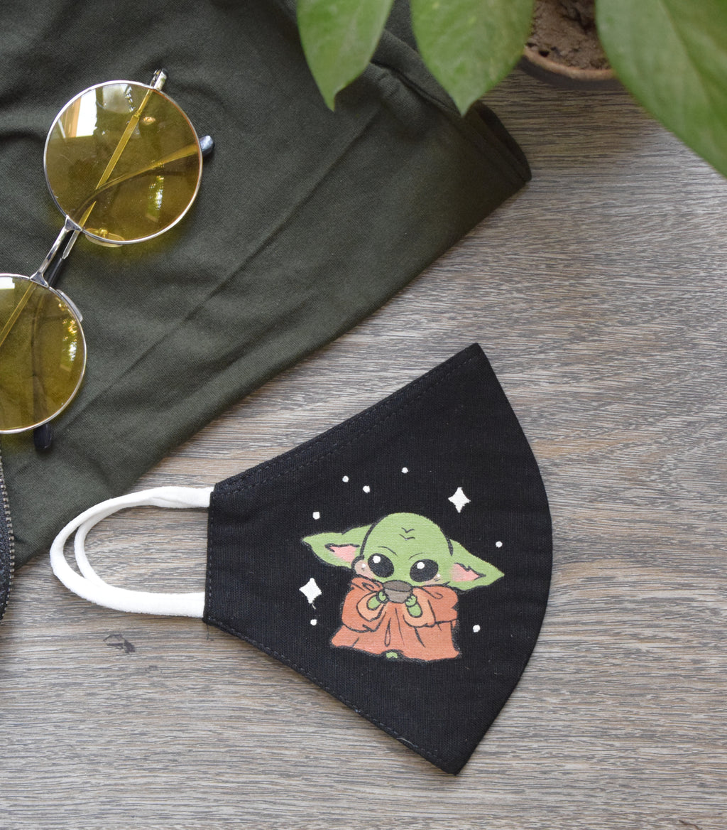 Limited edition Hand painted Baby Yoda Mask