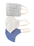 Pack of 3: Unisex Assorted Double Layered Cotton Masks