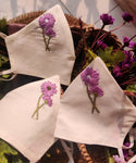 Floral Hand embroidered Cotton Masks
