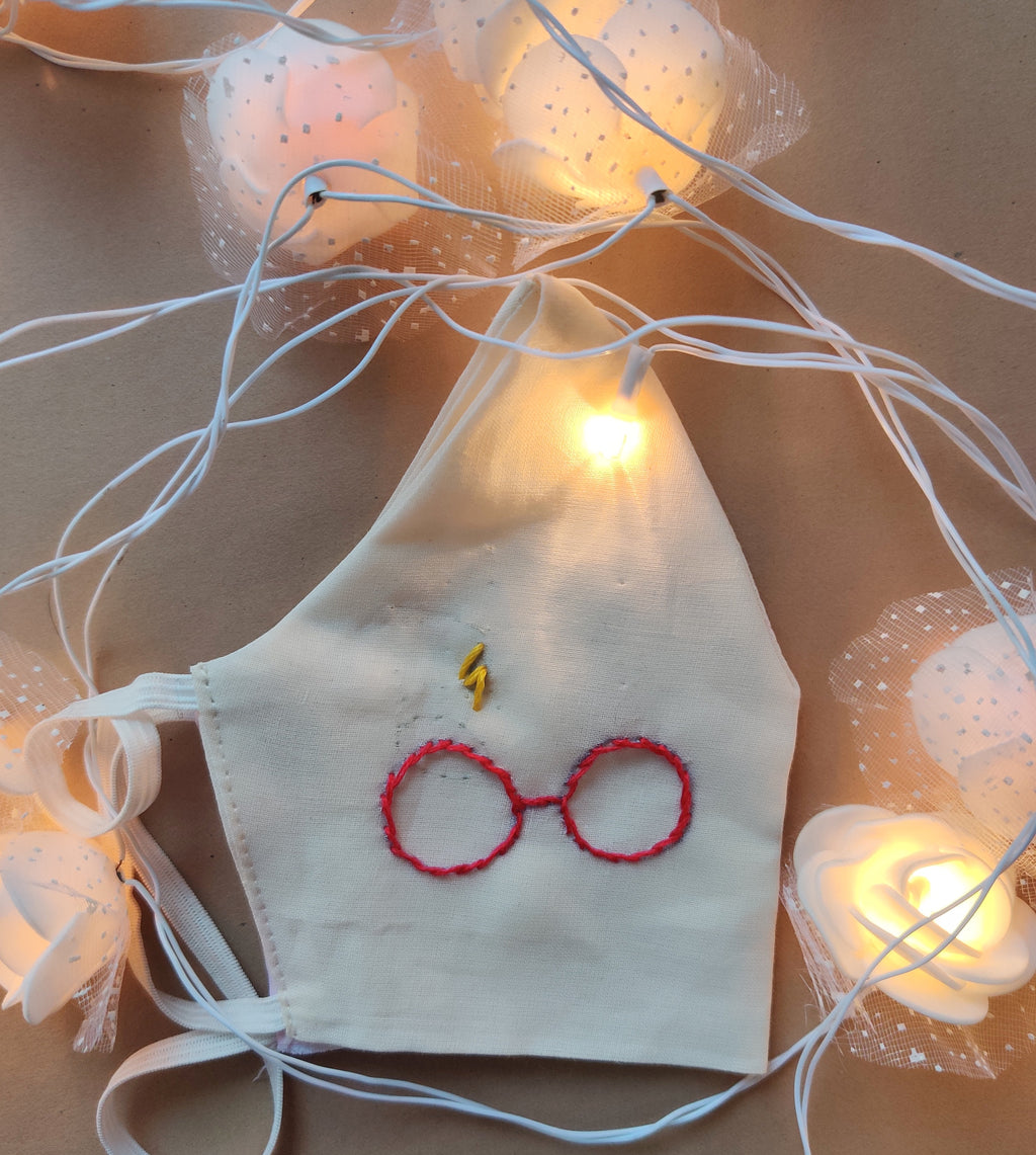 Harry Potter Exclusive hand embroidered Cotton Masks