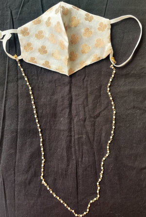 Golden and Pearl Multipurpose chain (Mask not included)