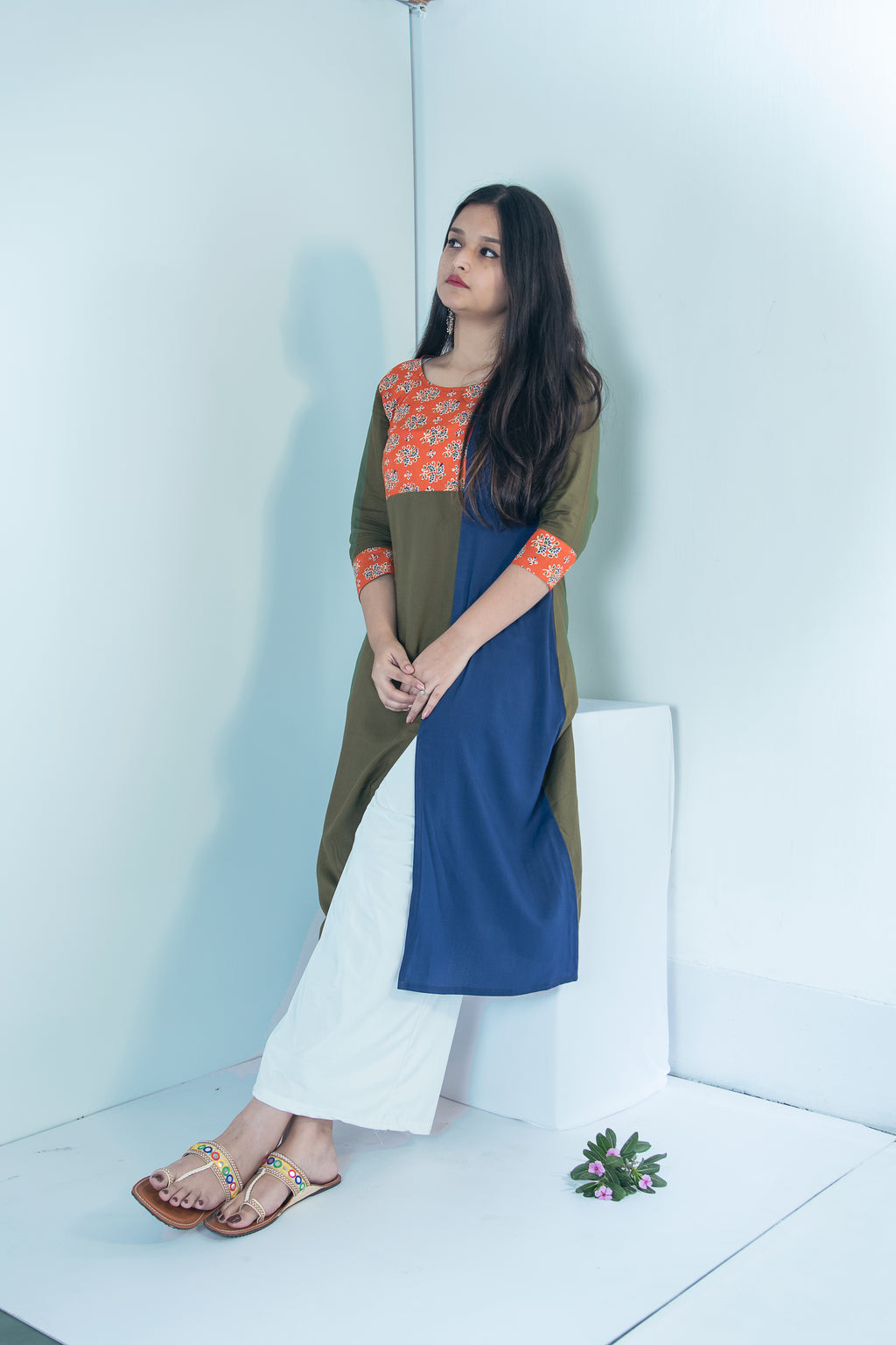 Three Style Long Flowy Kurta