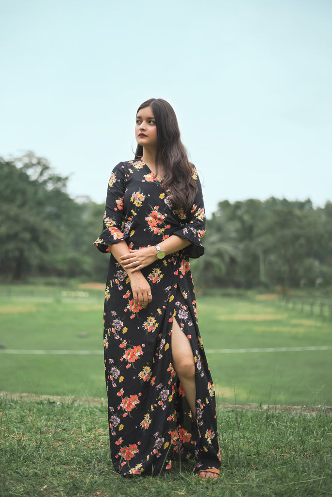 Floral Wrap Style Maxi