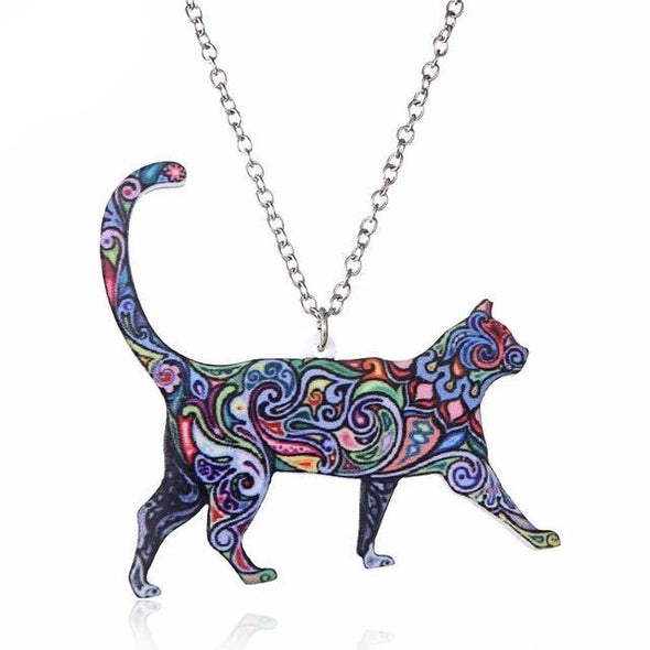Acrylic Cat Necklace