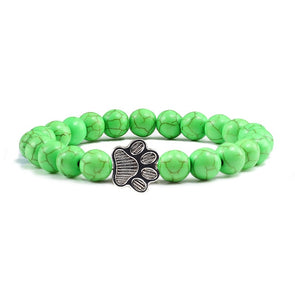 Volcanic Light Green Stone Paw Bracelet