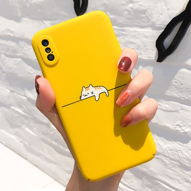 Cute Lazy Cat iPhone Case