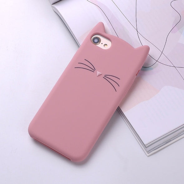 Cute Cat Ear iPhone Case