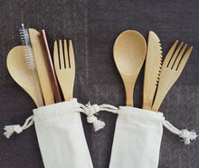 Bamboo Cutlery with Travel Bag