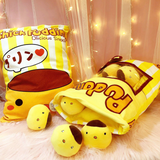 Chick Puddings Tsumettow Pillow with Plushies Out