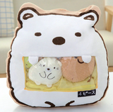 Polar Bear and Friends Tsumettow Pillow Front