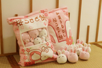 Sakura Bunnies Tsumettow Pillow