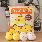 Egg Ball Chicks Tsumettow Pillow Front