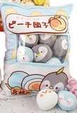 Peach Dumpling Penguins Tsumettow Pillow Front