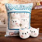 Peppermint Cats Tsumettows Pillow Front