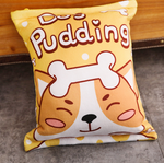 Pudding Pups Tsumettows Pillow Back